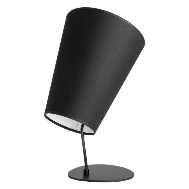 Stolná lampa Soihtu, čierna