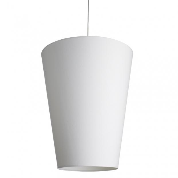 Závesná lampa Soihtu, biela