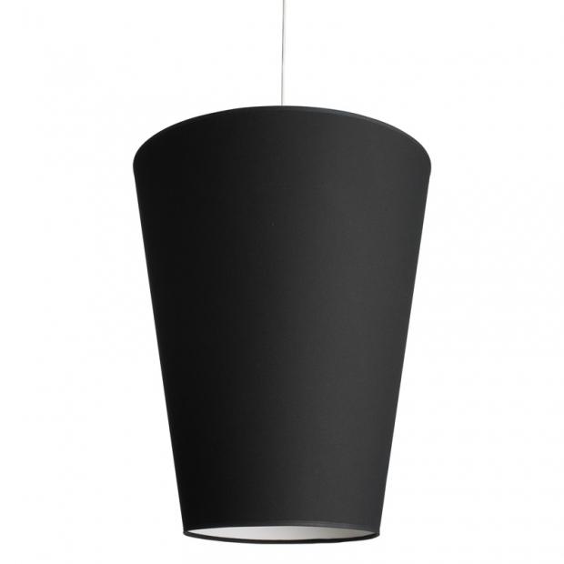 Závesná lampa Soihtu, čierna