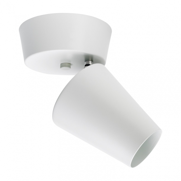 Stropná bodová lampa Tuike, biela