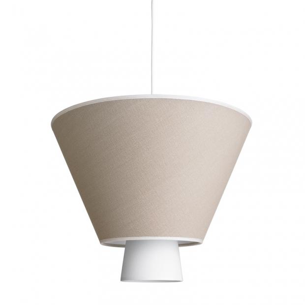 Závesná lampa Hehku, piesková