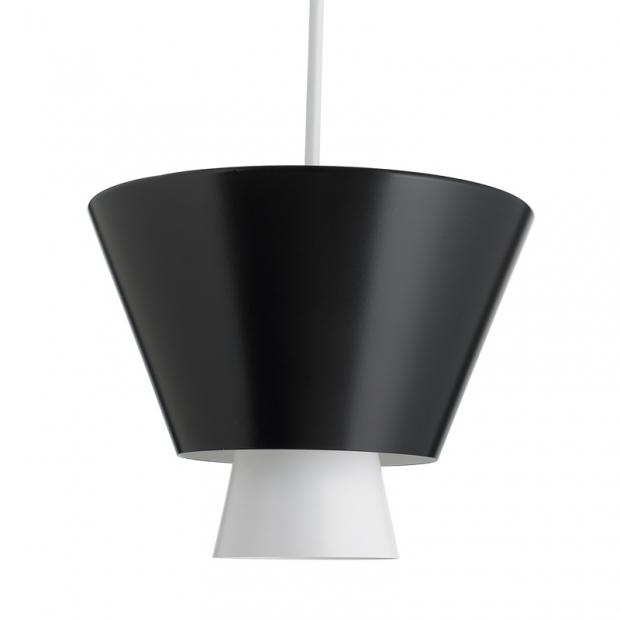 Závesná lampa Loiste, čierna