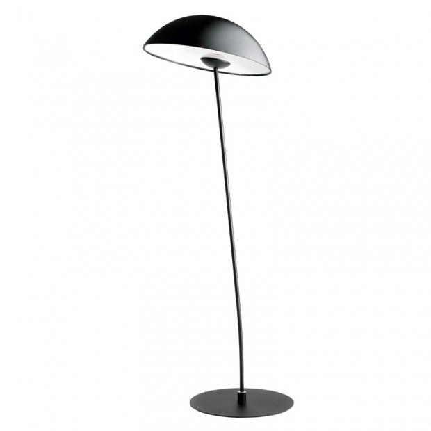Stojacia lampa Kajo, čierna