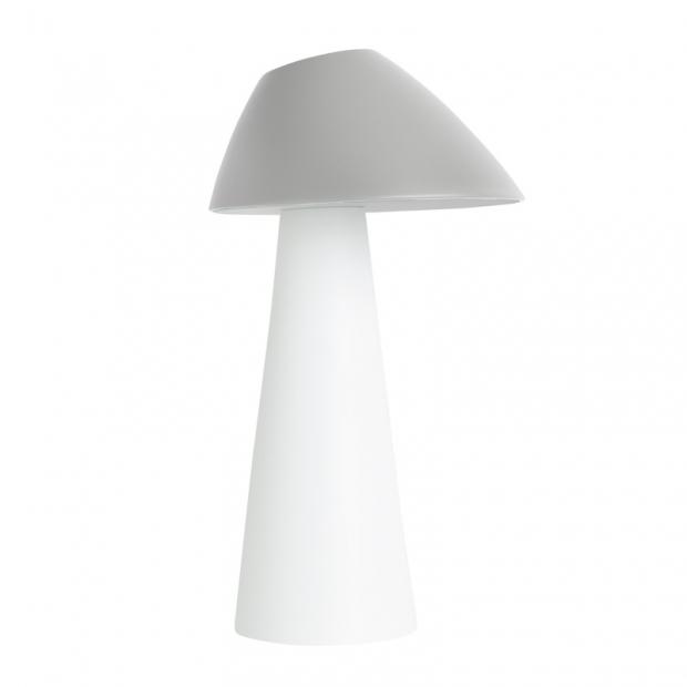 Stolná lampa Loisto, sivá