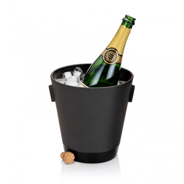 Chladiaca nádoba na Champagne, čierna