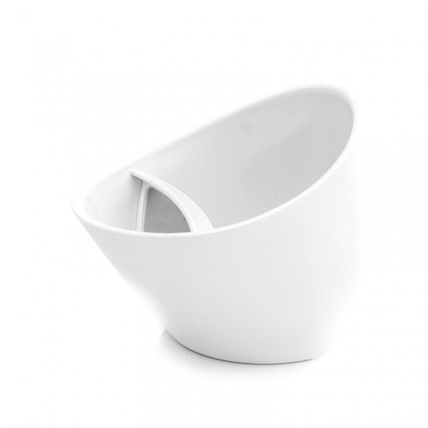 Chytrý hrnček na čaj 0,25 l, biely