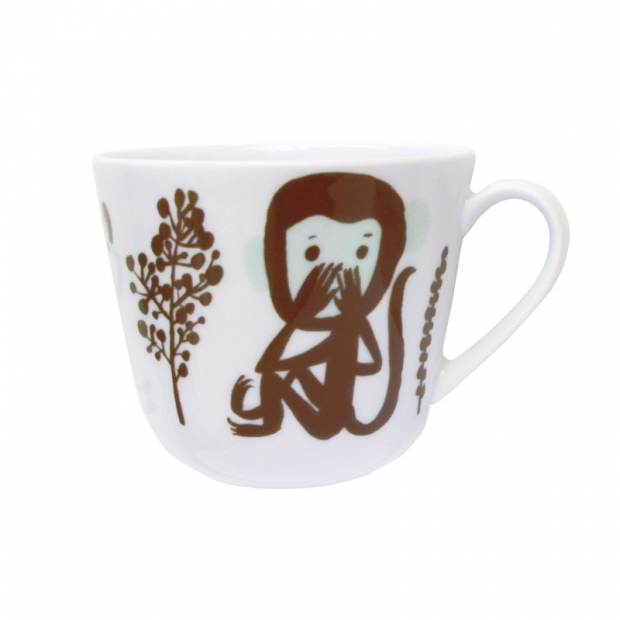 Hrnek Monkey 0,28l, hnědý