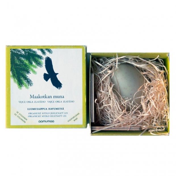 Prírodné mydlo vajca orla zlatého 85g, ihličnatý les