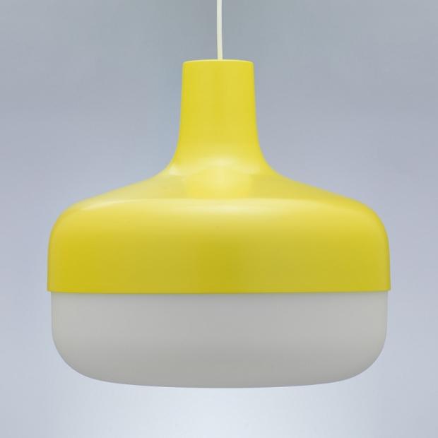 Závesná lampa Korona, žltá