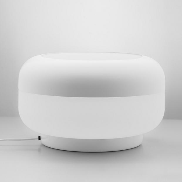 Stolná lampa Korona, biela