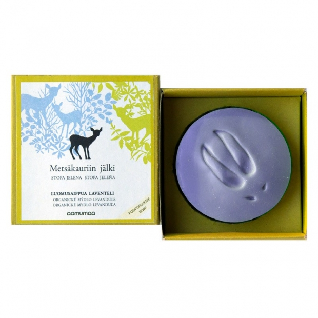 Přírodní mýdlo se stopou jelena 100g, levandule