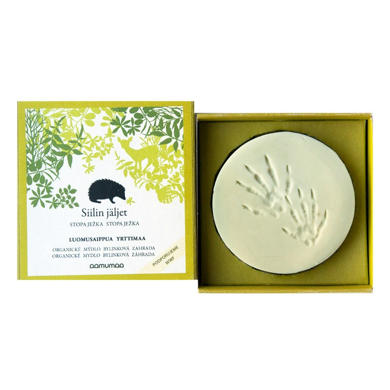 Přírodní mýdlo se stopou ježka 85g, bylinková zahrada