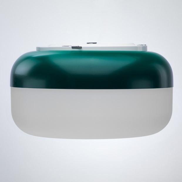 Nástěnná lampa Korona, zelená