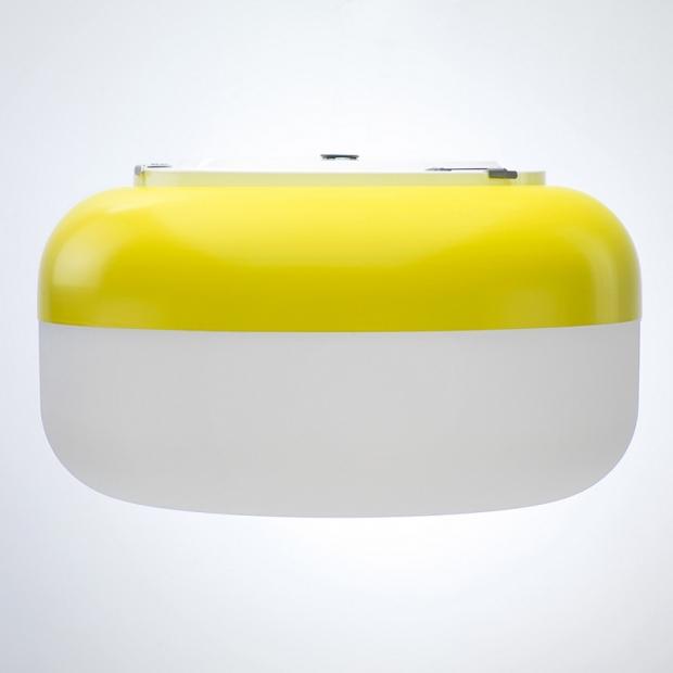 Nástenná lampa Korona, žltá