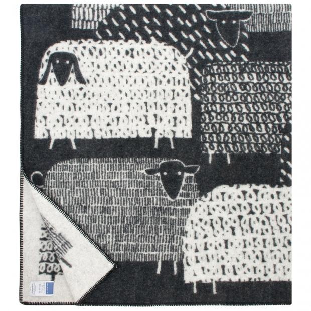 Vlnená deka Päkäpäät 130x180, čierno-biela