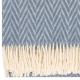 Vlněná deka Iida 130x200, modrá