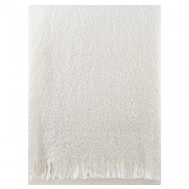 Vlněná deka Corona Uni 130x170, bílá