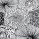 Běhoun Ruut 48x150, černo-bílý