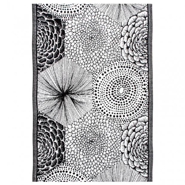 Utierka Ruut 48x70, čierno-biela