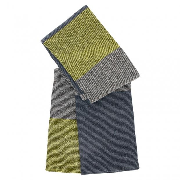Osuška Terva 85x180, čierno-sivo-zelená