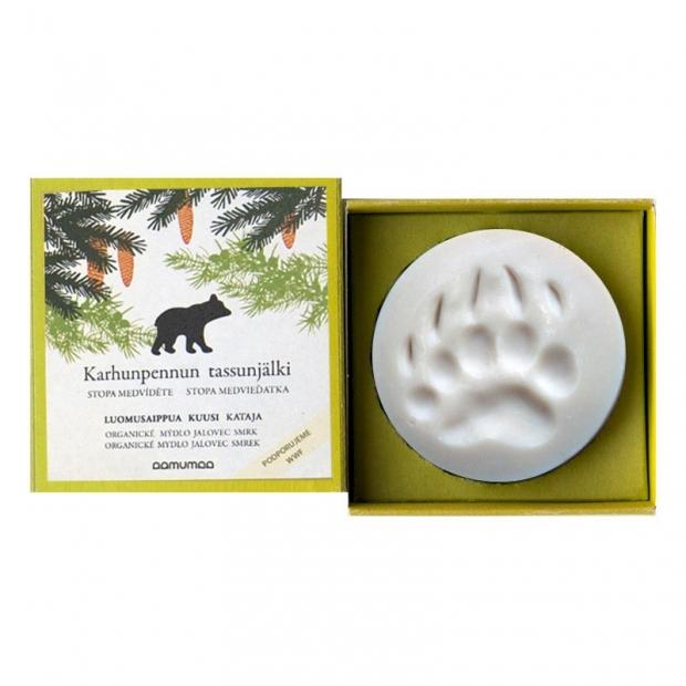 Prírodné mydlo so stopou medvieďatka 85g, jalovec smrek