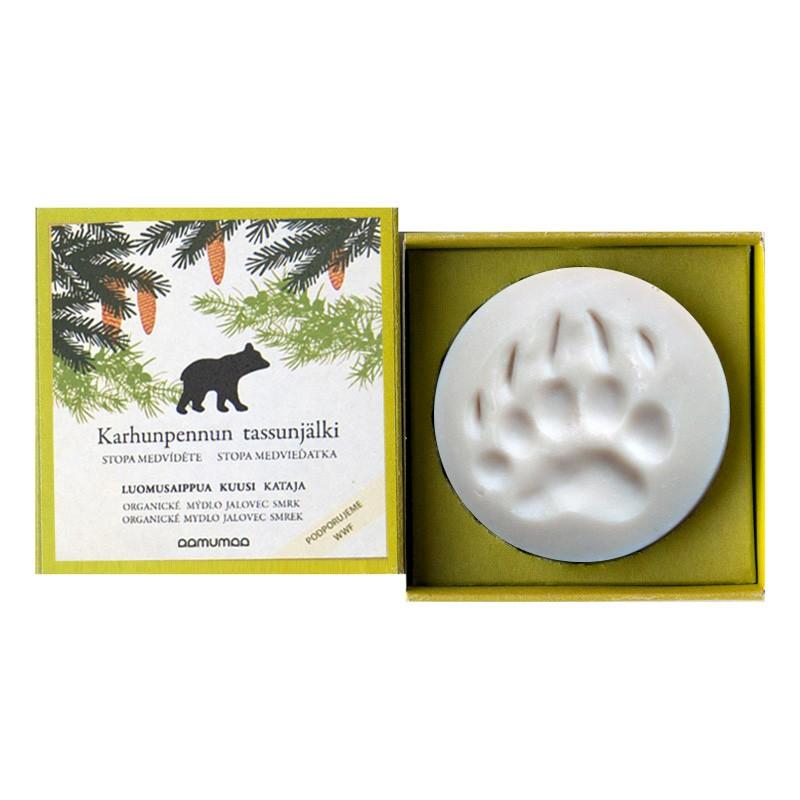 Přírodní mýdlo se stopou medvíděte 85g, jalovec smrk