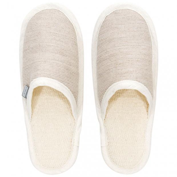 Papuče do sauny Onni S, béžové