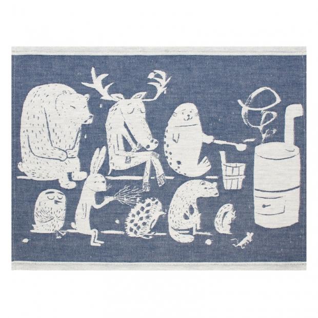 Podložka do sauny Eläinten 46x60, modrá