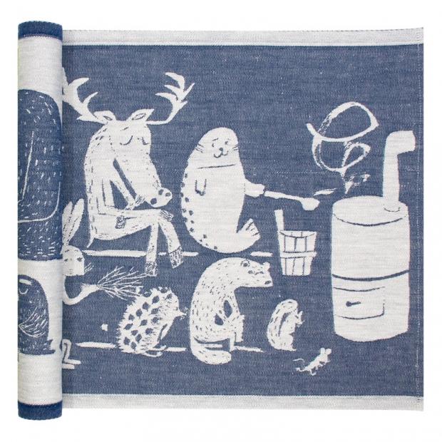 Podložka do sauny Eläinten 46x150, modrá