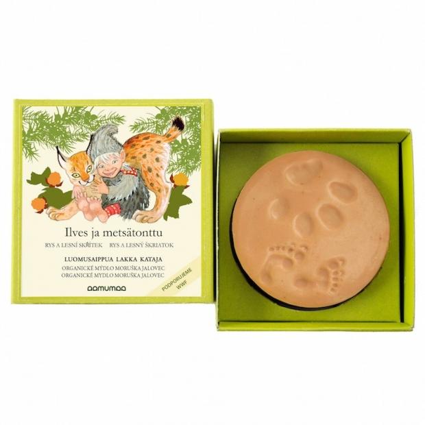 Přírodní mýdlo rys a lesní skřítek 85g, moruška jalovec