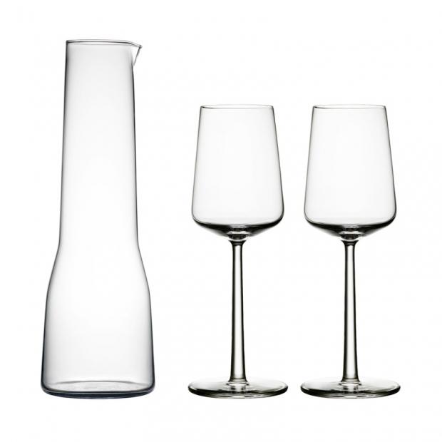 Sada karafy a 2 pohárov na biele víno Essence