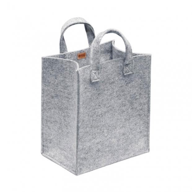 Plstená taška Meno, stredná / sivá