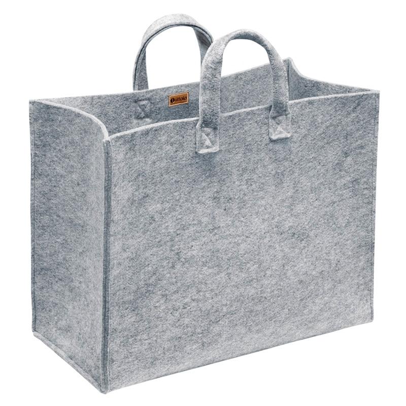 Plstěná taška Meno, velká / šedá