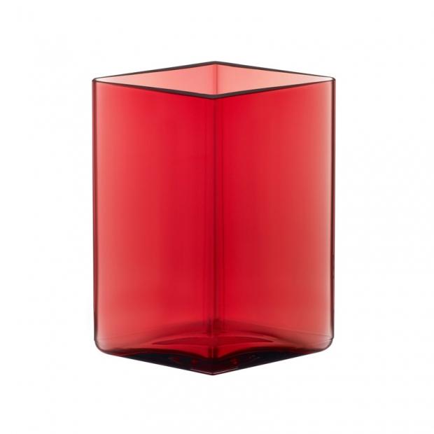 Váza Ruutu 11,5x14, brusinková