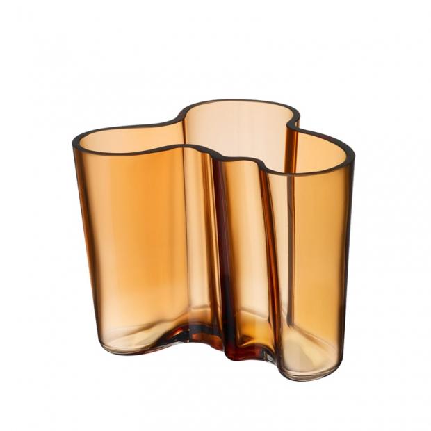 Alvar Aalto váza 120mm, zlatá desert
