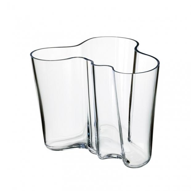Váza Alvar Aalto 160mm, čirá