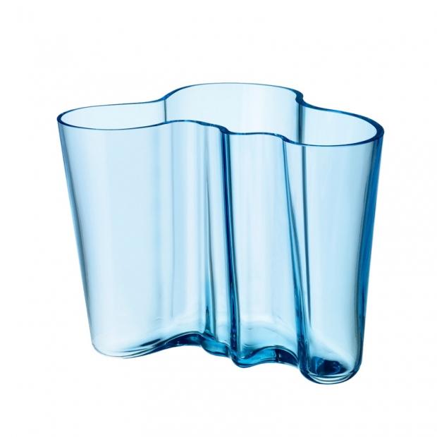 Alvar Aalto váza 160mm, světle modrá
