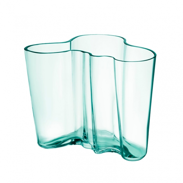 Alvar Aalto váza 160mm, zelená water green