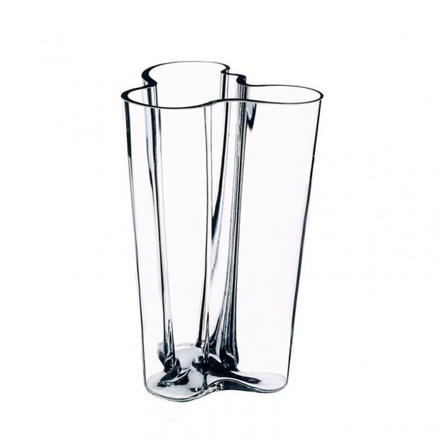Alvar Aalto váza 201mm, čirá
