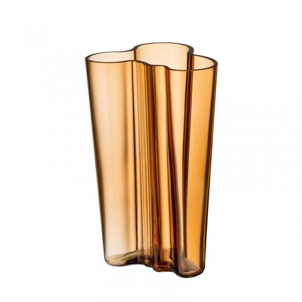 Alvar Aalto váza 201mm, zlatá desert