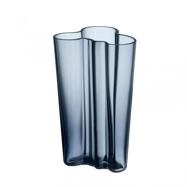 Alvar Aalto váza 201mm, modrá rain
