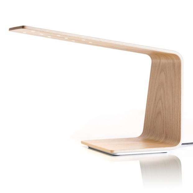 Stolní lampa LED1, dub