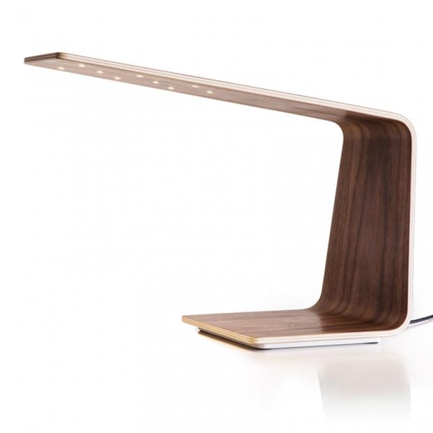 Stolní lampa LED1, ořech