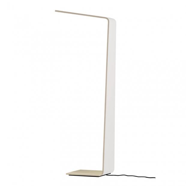 Stojací lampa LED2, bílá / dub