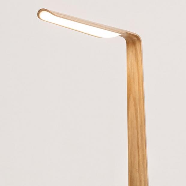 Stojacia lampa Swan, dub