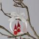 Závěsná dekorace Vánoční skřítci, červená