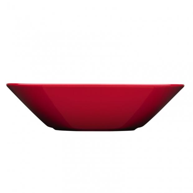 Hluboký talíř Teema 21cm, červený