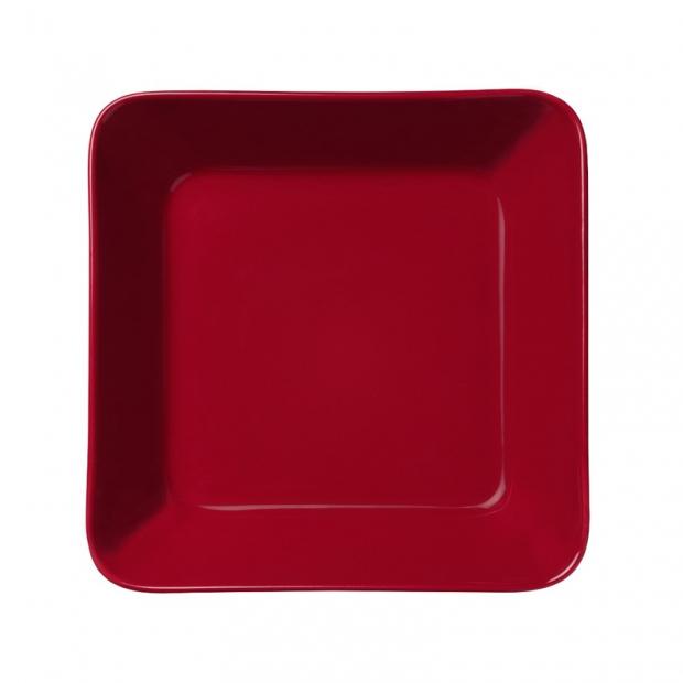 Talíř Teema 16x16cm, červený