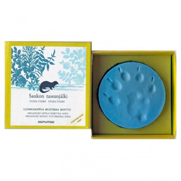 Přírodní mýdlo se stopou vydry 85g, borůvka máta