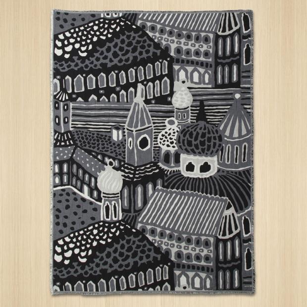 Deka Kumiseva 130x180, černo-bílá